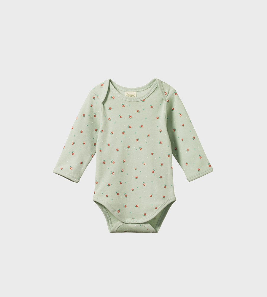 Nature Baby | Long Sleeve Bodysuit | Posey Blossom Print
