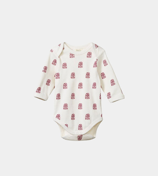 Nature Baby | Long Sleeve Bodysuit | Tiki Print