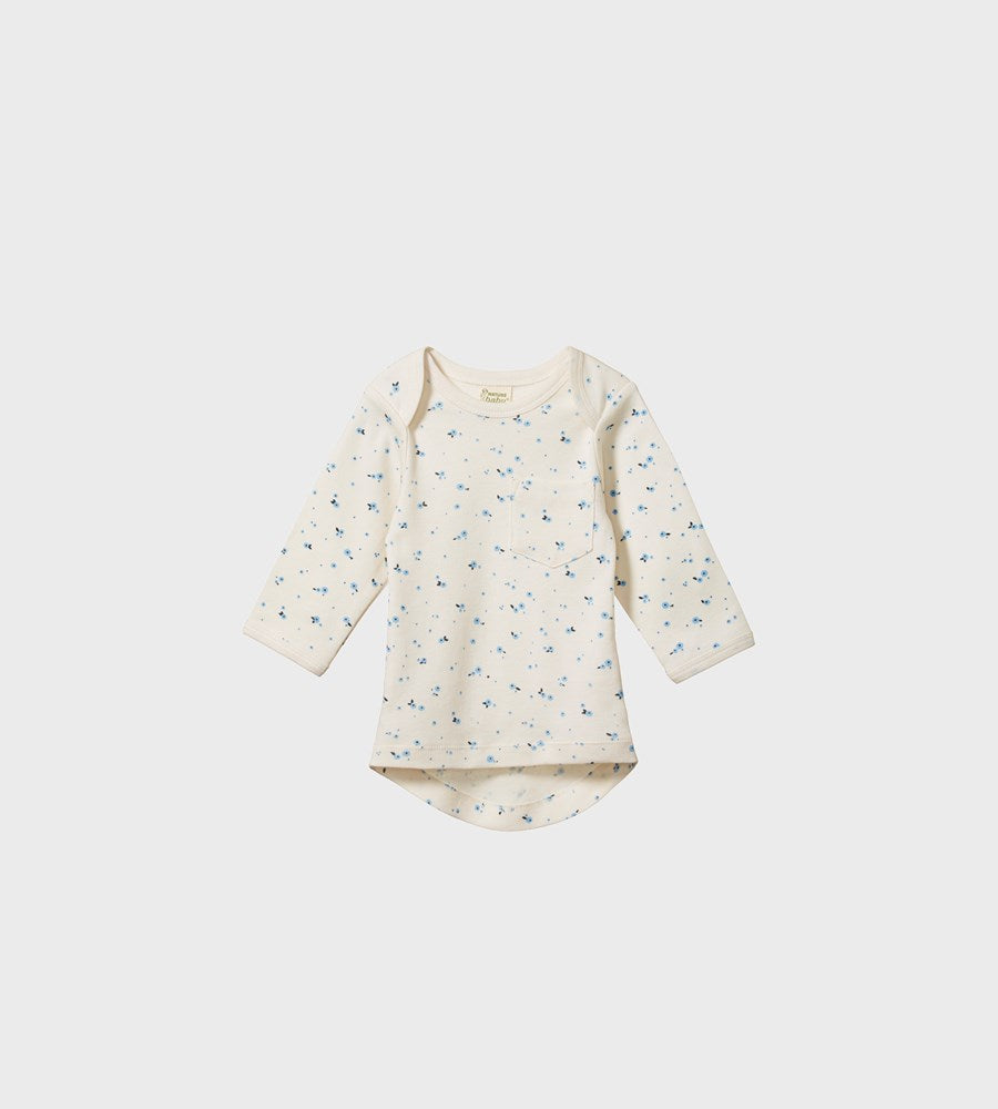 Nature Baby | Long Sleeve Pocket Tee | Daisy Print