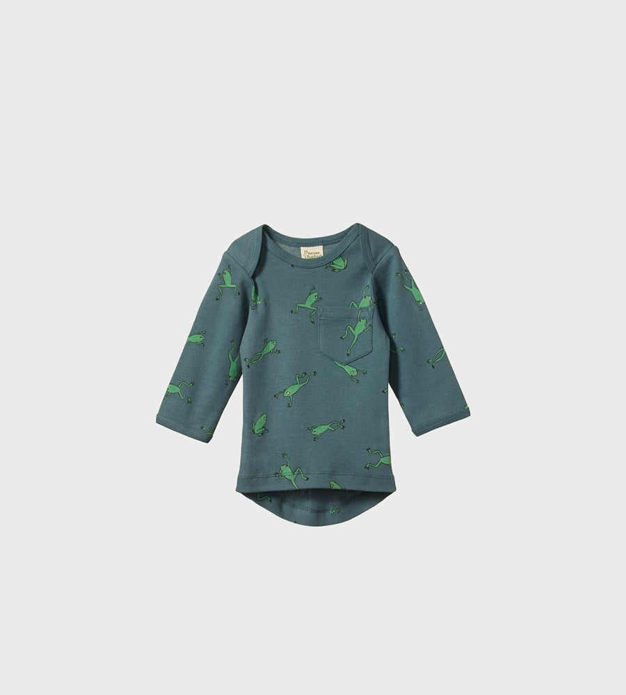 Nature Baby | Long Sleeve Pocket Tee | Leapfrog Spring Print