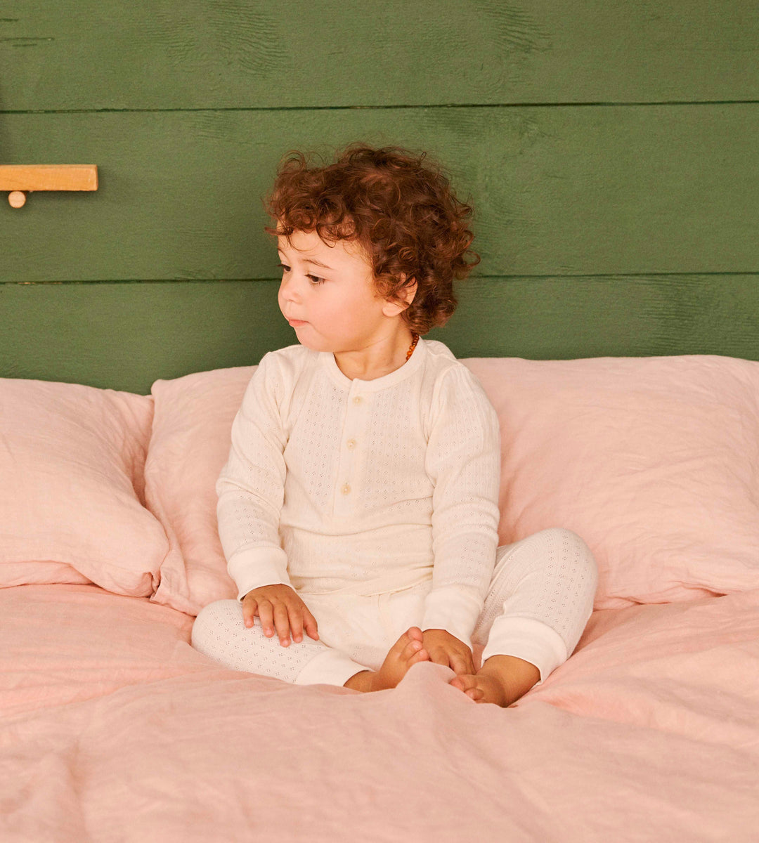 Nature Baby | Long Sleeve Pointelle Pyjamas | Natural