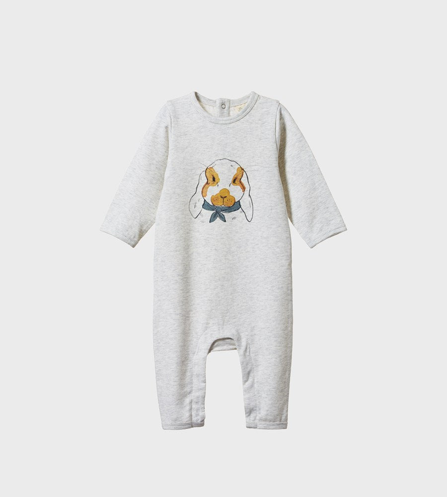 Nature Baby | Longsleeve Quincy Romper | Barnaby Bunny Print