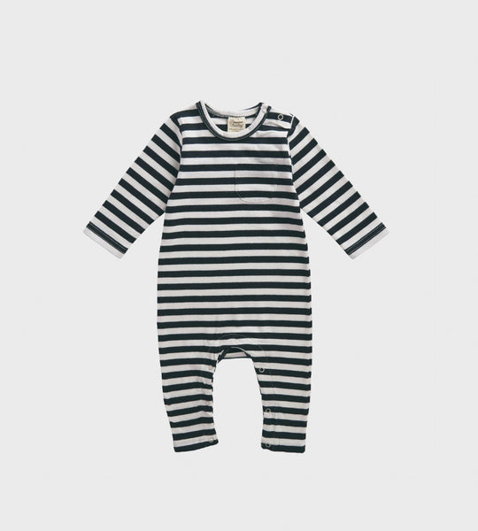 Nature Baby | Long Sleeve Romper | Navy Sea Stripe