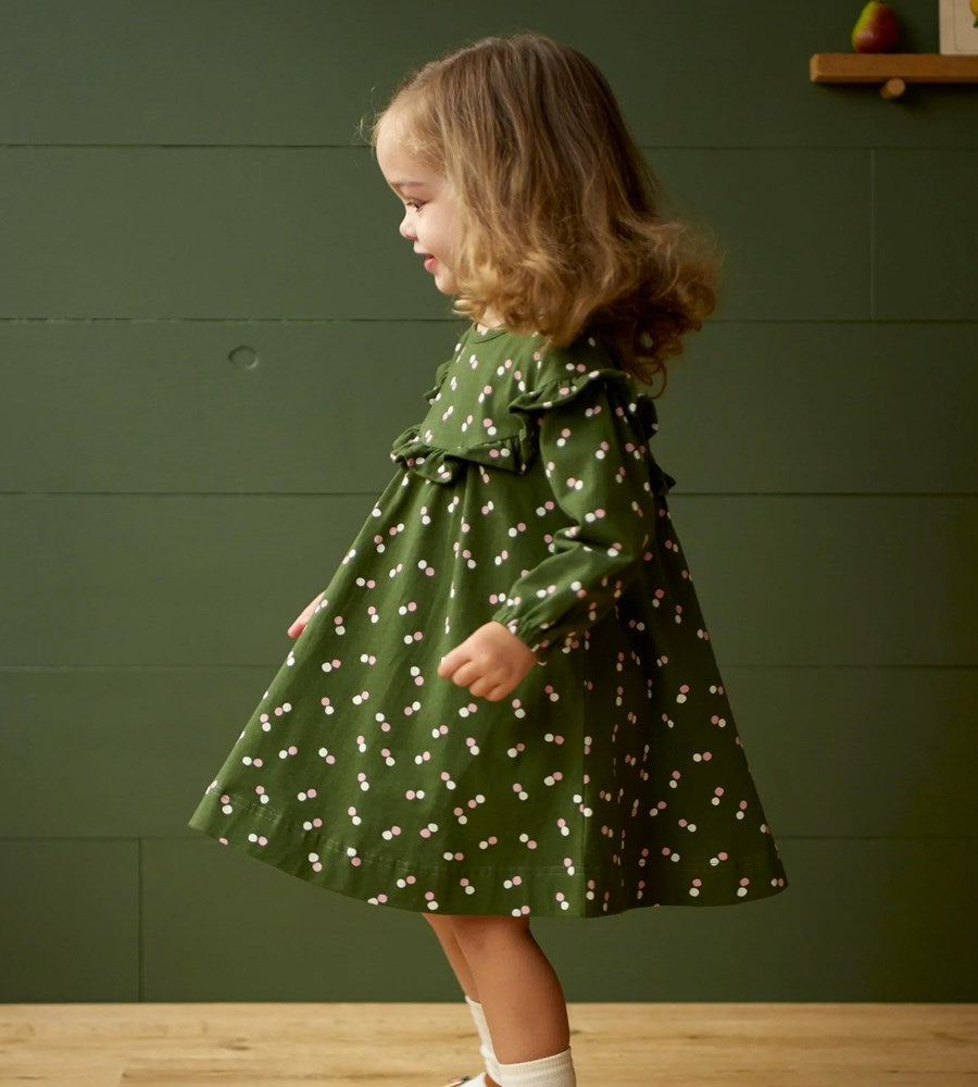 Nature Baby | Martha Dress Stretch Jersey | Snow Drop Print