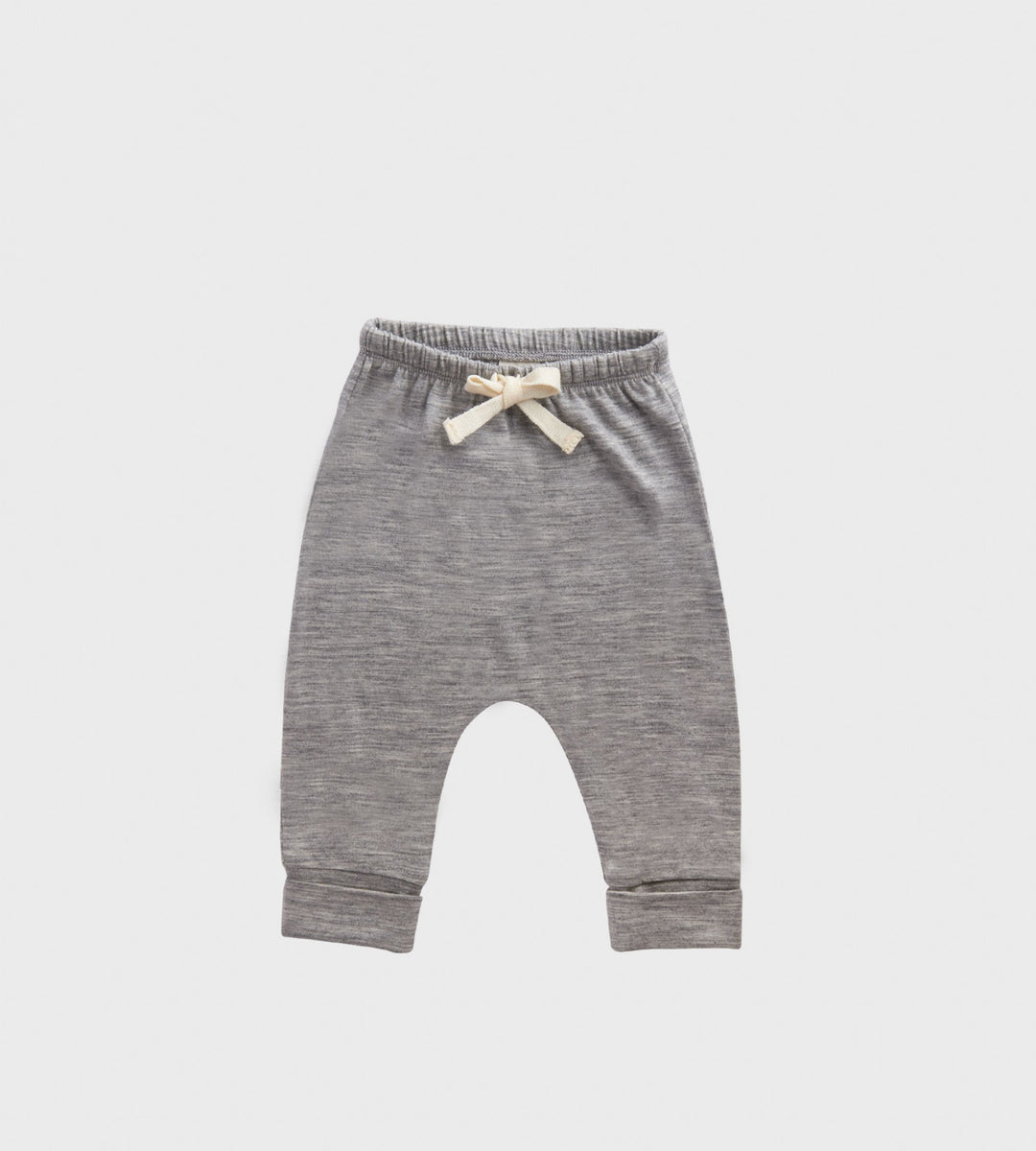 Nature Baby | Merino Drawstring Pants | Grey Marle