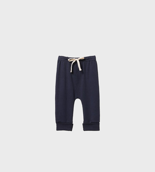 Nature Baby | Merino Drawstring Pants | Navy