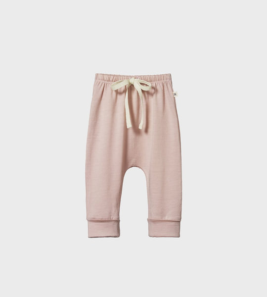 Nature Baby | Merino Drawstring Pants | Rose Bud