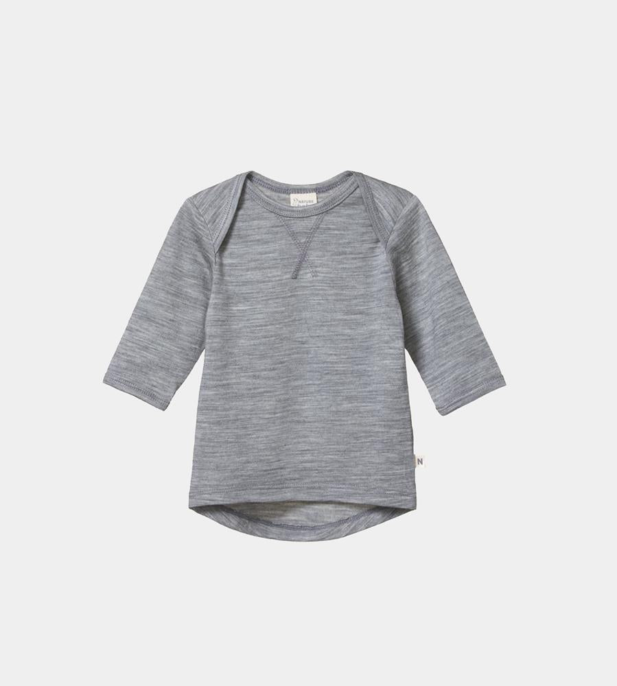 Nature Baby | Merino Essential Tee | Grey Marle