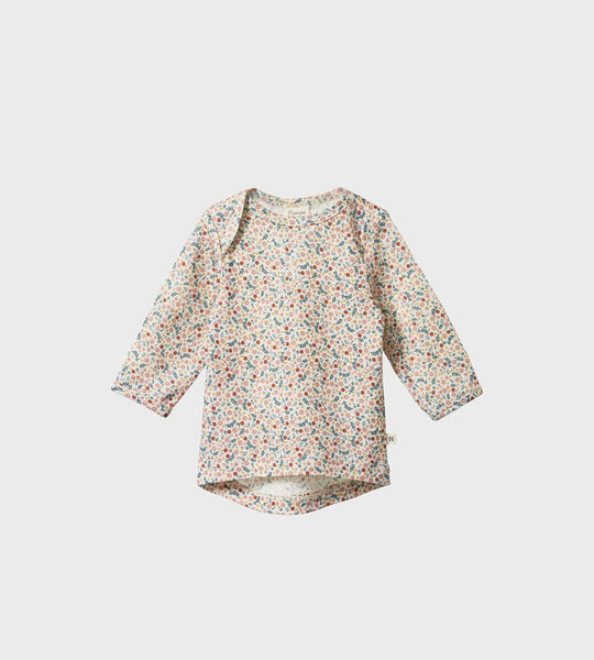 Nature Baby | Merino Essential Tee | June's Garden Print