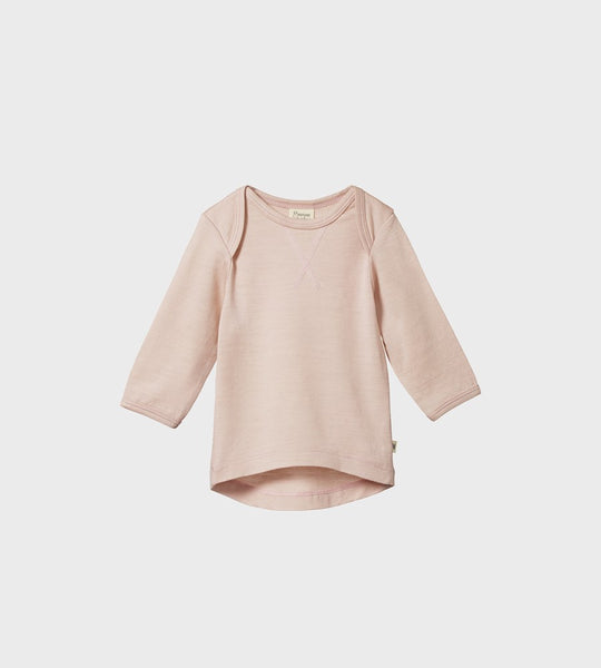 Nature Baby | Merino Essential Tee | Rose Bud