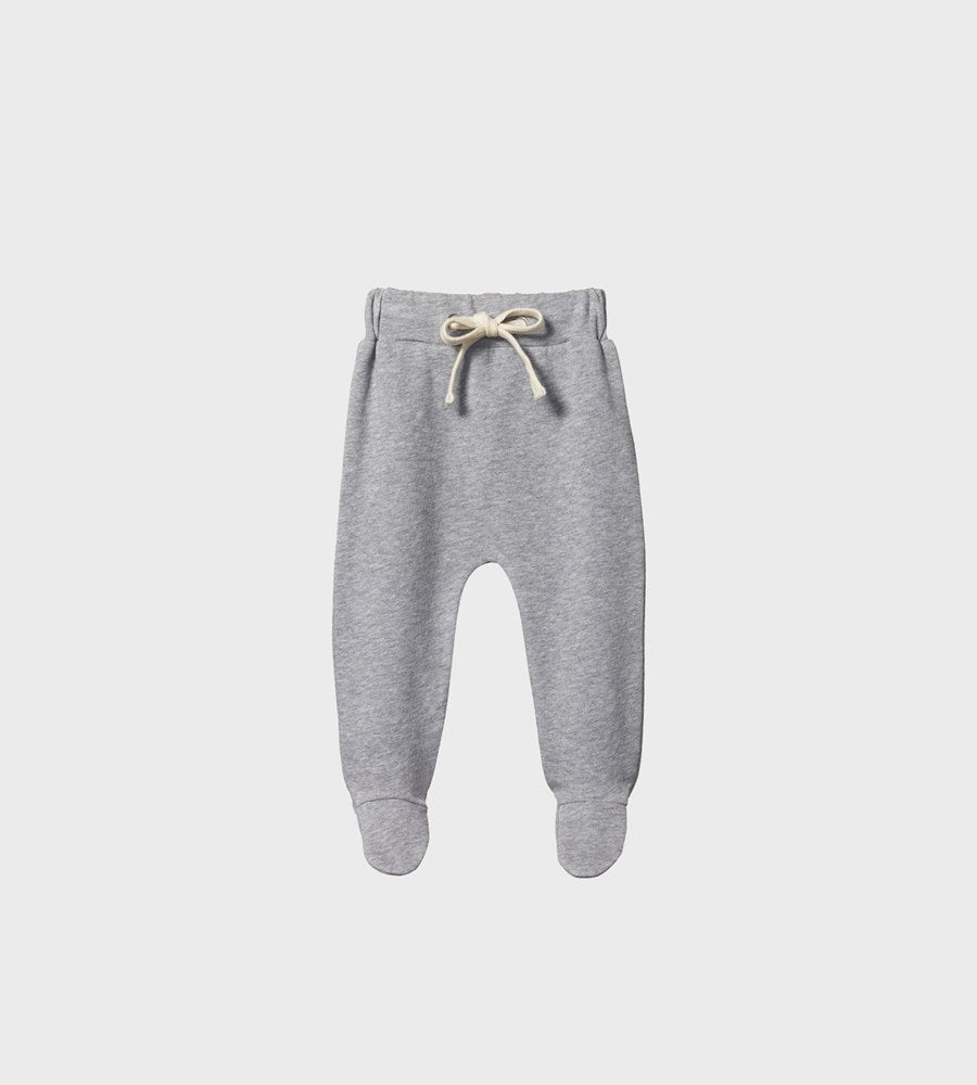 Nature Baby | Merino Footed Romper | Grey Marl