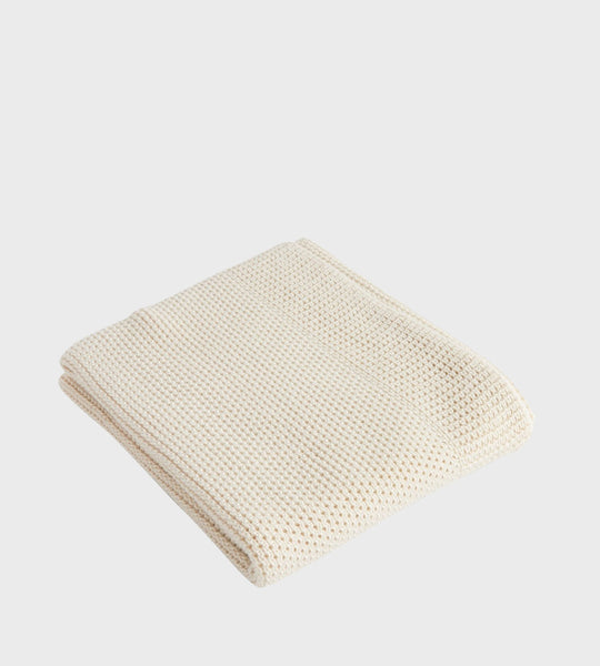 Nature Baby | Merino Knit Blanket | Natural