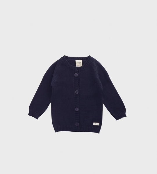 Nature Baby | Merino Knit Cardigan | Navy