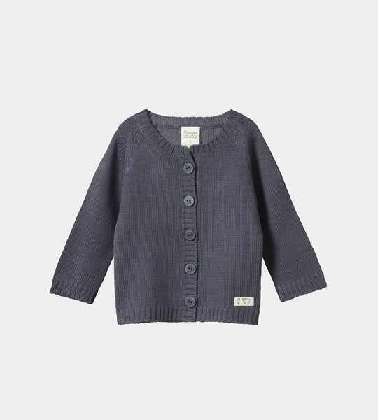 Nature Baby | Merino Knit Cardigan | Pebble
