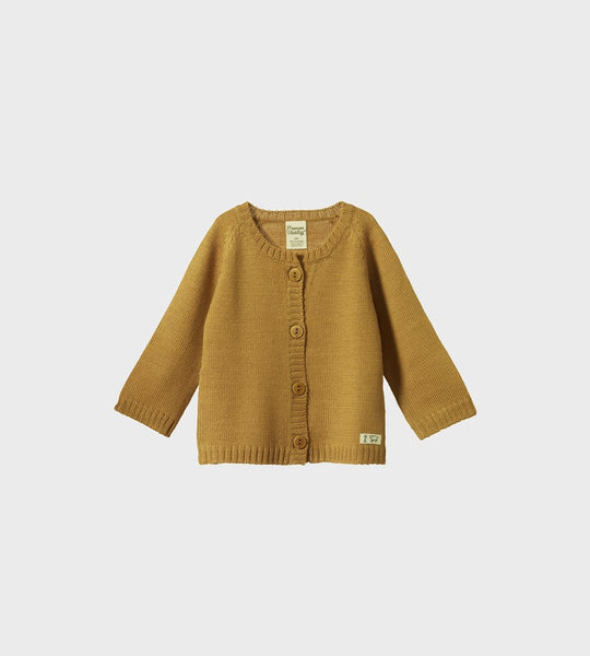 Nature Baby | Merino Knit Cardigan | Straw