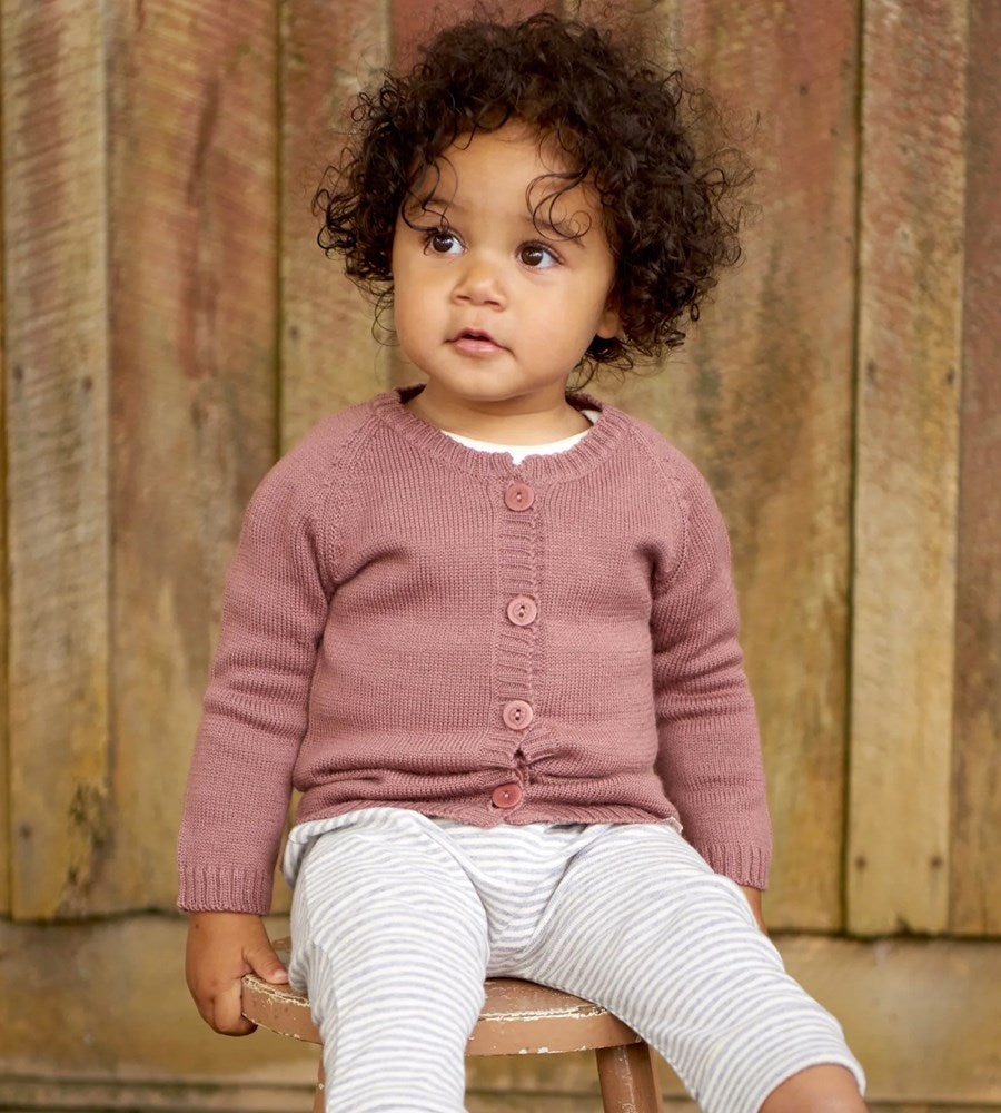 Nature Baby | Merino Knit Cardigan | Woodland Rose