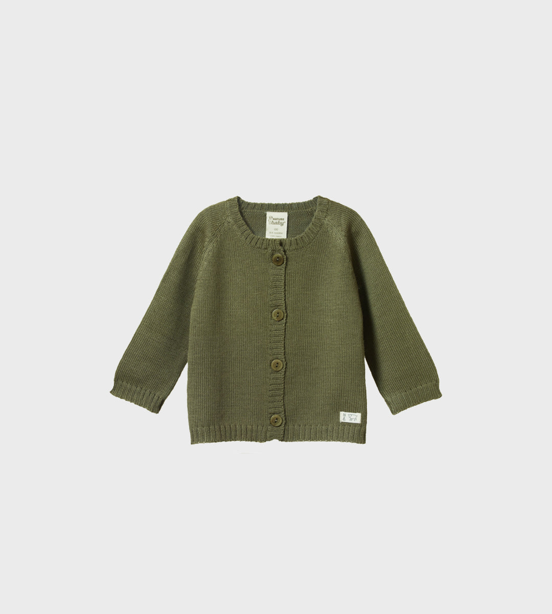Nature Baby | Merino Knit Cardigan | Cypress