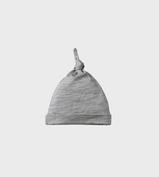 Nature Baby | Merino Knotted Beanie Hat | Grey Marl
