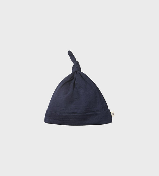 Nature Baby | Merino Knotted Beanie Hat | Navy