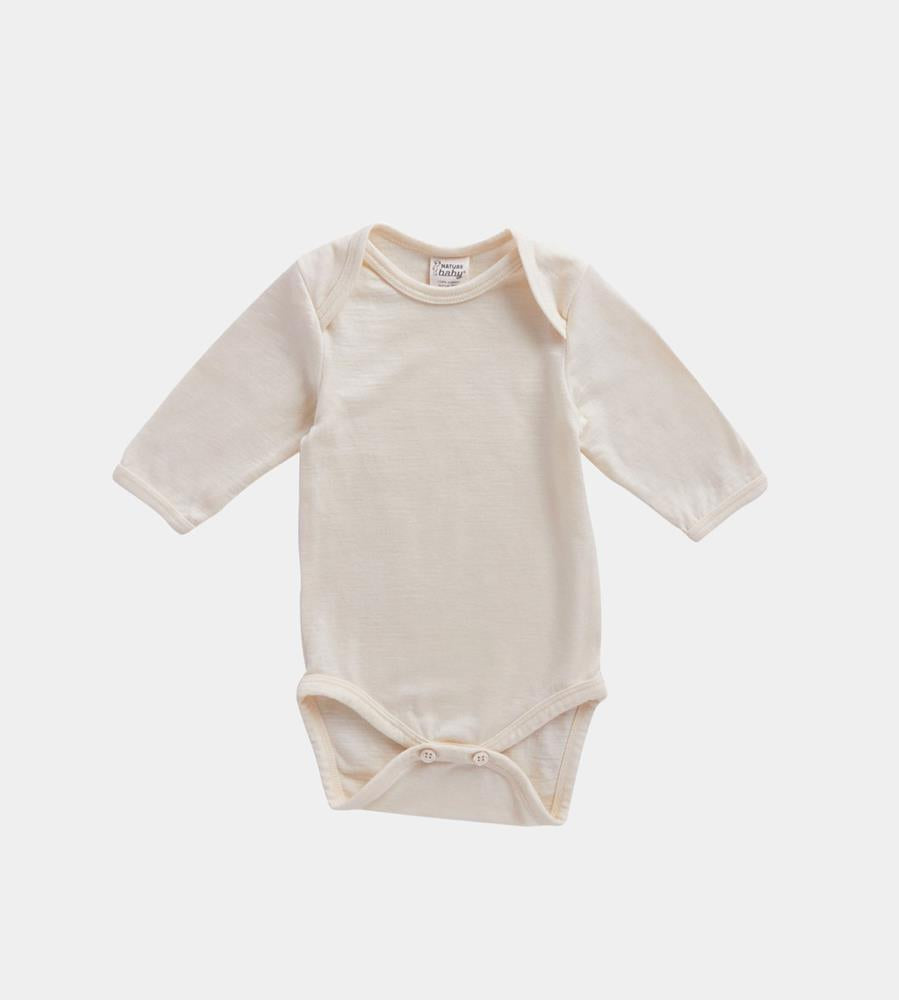 Nature Baby | Merino Long Sleeve Bodysuit | Natural