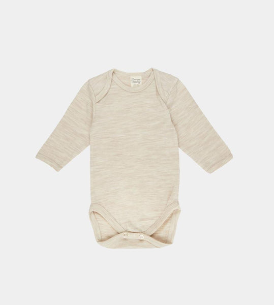 Nature Baby | Merino Long Sleeve Bodysuit | Oatmeal Marle