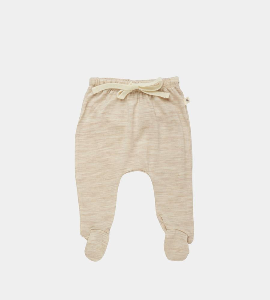 Nature Baby | Merino Footed Romper | Oatmeal Marle