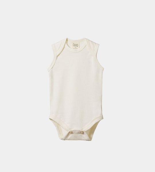 Nature Baby | Merino Singlet Bodysuit | Natural