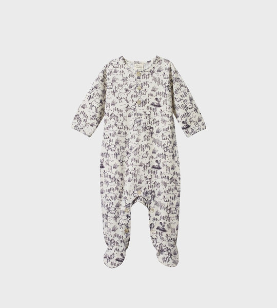 Nature Baby | Merino Stretch & Grow | Barnyard Print