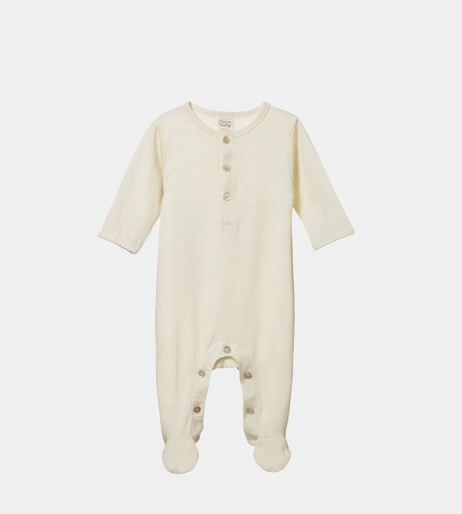 Nature Baby | Merino Stretch & Grow One Piece | Natural