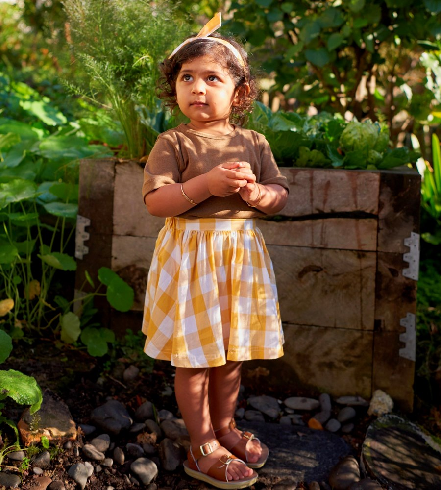 Nature Baby | Millie Skirt | Honey Check