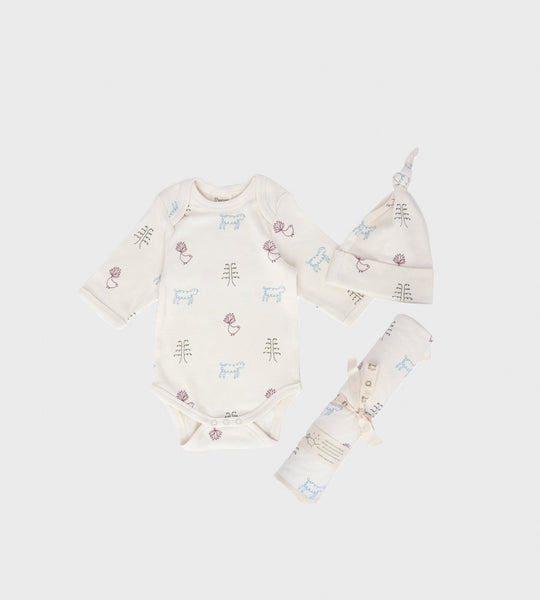 Nature Baby | Newborn Gift Set | Nature Baby Print