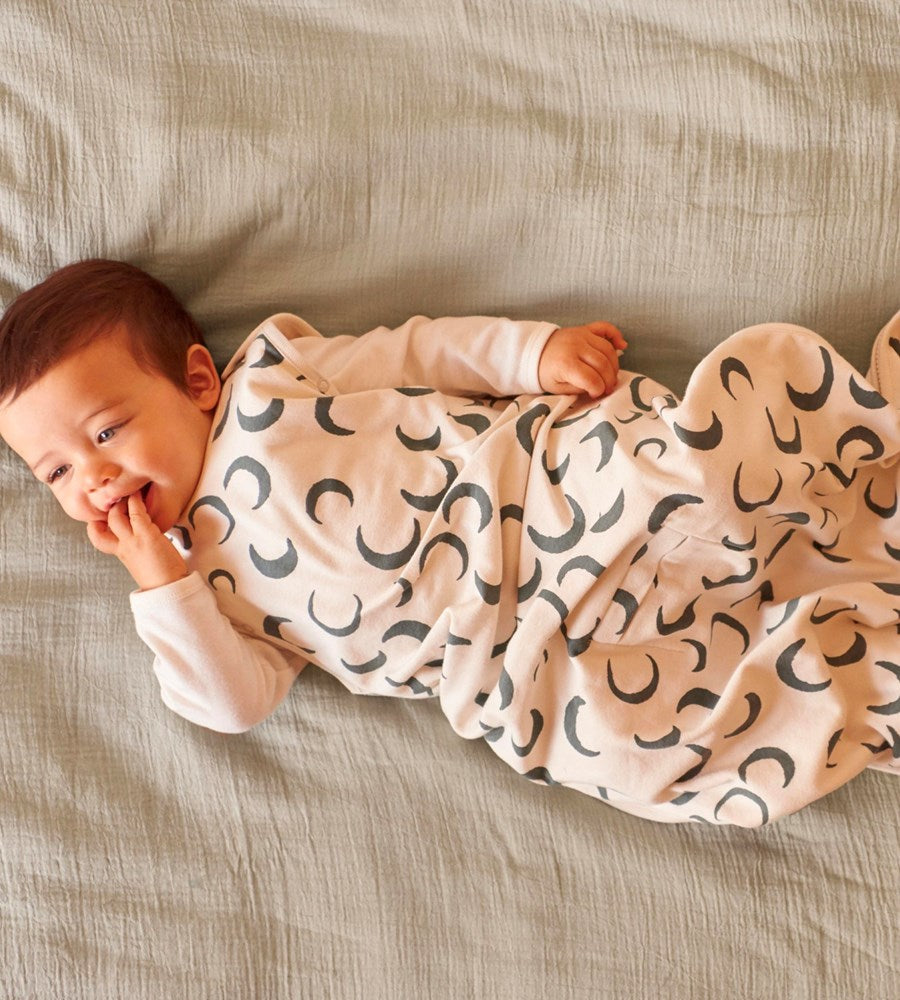 Nature Baby | Organic Cotton Sleeping Bag | Crescent Moon Print