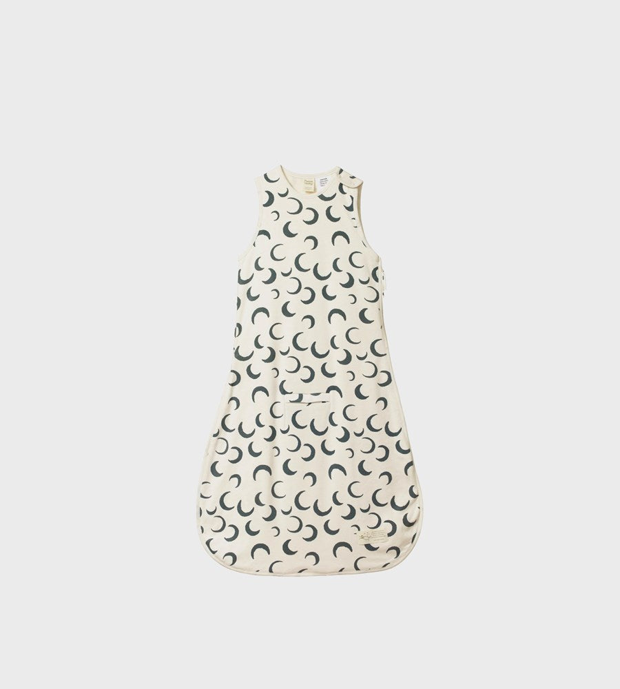 Nature Baby | Organic Cotton & Merino Sleeping Bag | Crescent Moon Print