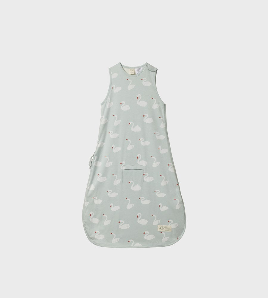 Nature Baby | Organic Cotton Sleeping Bag | Swan Print