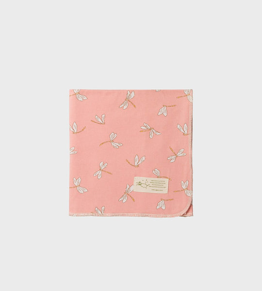 Nature Baby | Organic Cotton Wrap | Dragonfly Lily Print