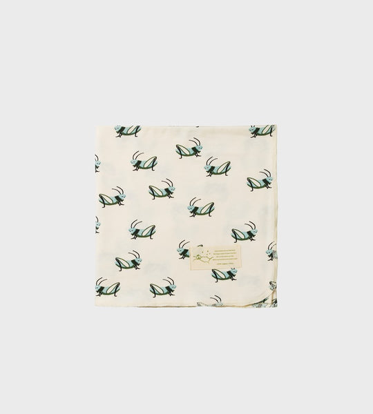 Nature Baby | Organic Cotton Wrap | Grasshopper Print