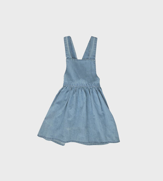 Nature Baby | Pinafore Chambray Dress | Sky