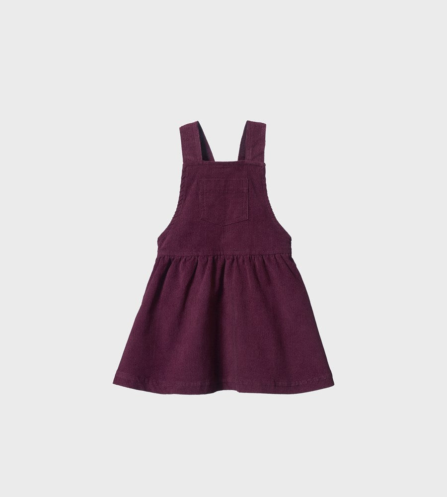 Nature Baby | Pinafore Cord Dress | Berry