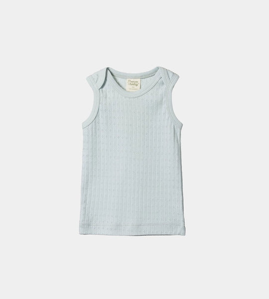 Nature Baby | Pointelle Singlet | Milky Green