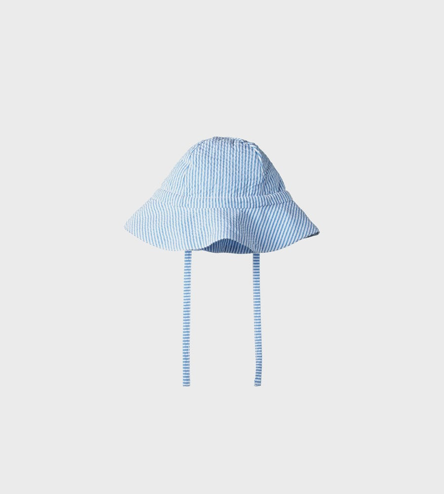 Nature Baby | Seersucker Sunhat | Blue Stripe