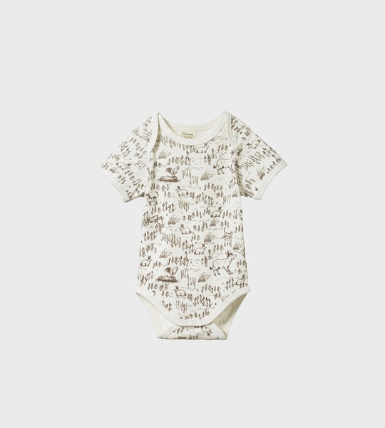 Nature Baby | Short Sleeve Bodysuit | Barnyard Print
