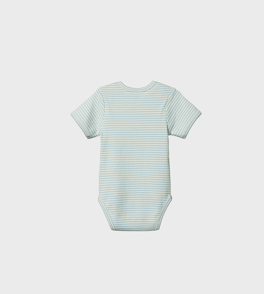 Nature Baby | Short Sleeve Bodysuit | Pond Stripe