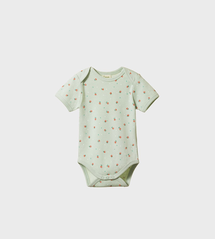 Nature Baby | Short Sleeve Bodysuit | Posey Blossom Print