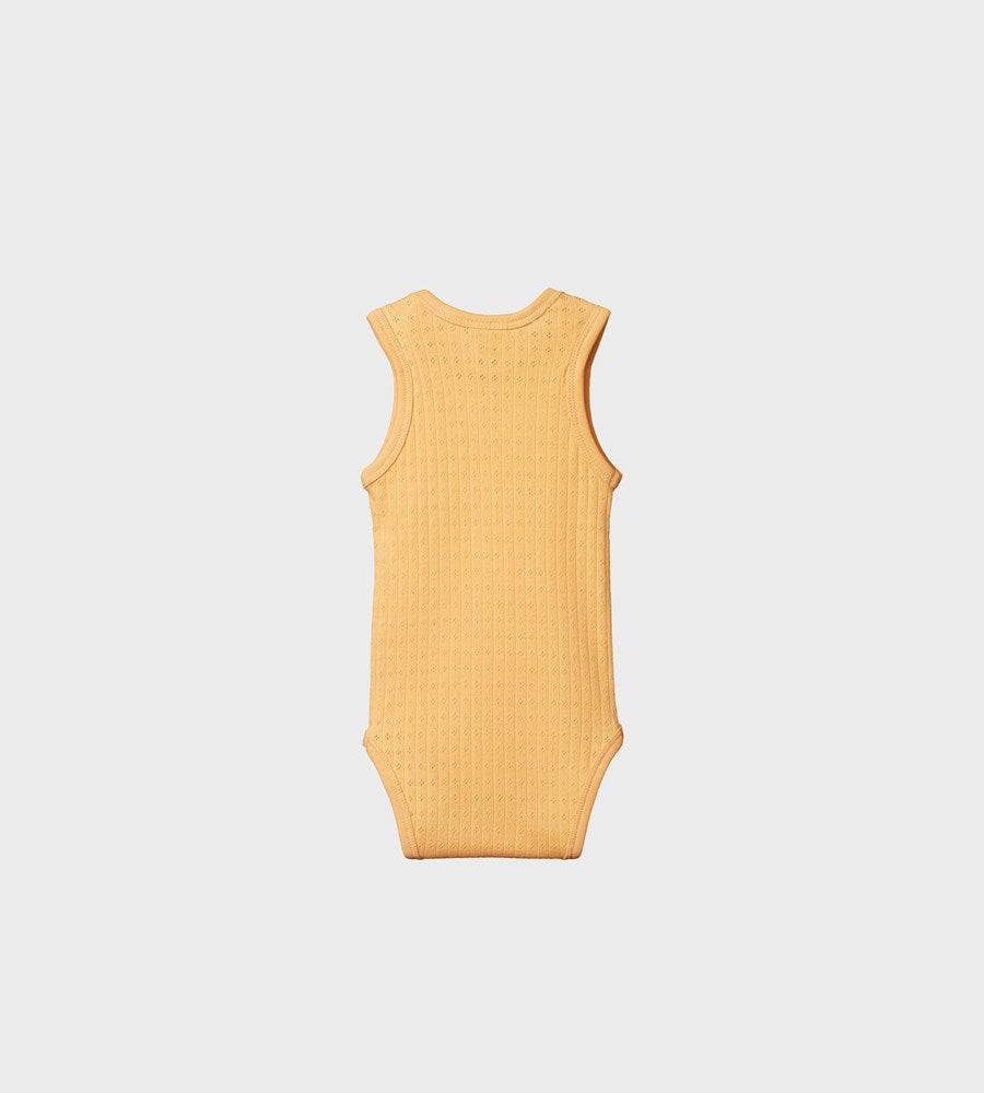 Nature Baby | Singlet Bodysuit Pointelle | Lemon