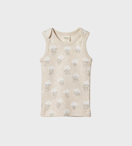 Nature Baby | Singlet | Rain Cloud Print