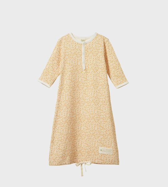 Nature Baby | Cotton Sleeping Gown | June's Garden Straw Print