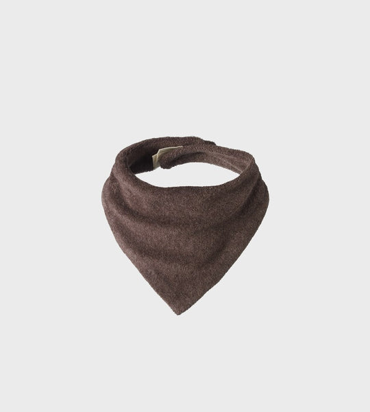 Nature Baby | Terry Triangle Bib | Truffle Marl