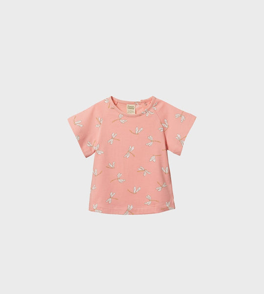 Nature Baby | Juniper Tee | Dragonfly Lily Print