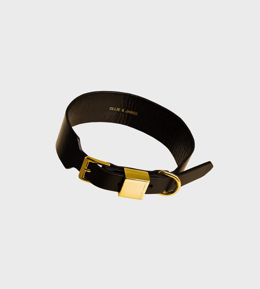 Ollie & James | Leather Dog Collar | Sable