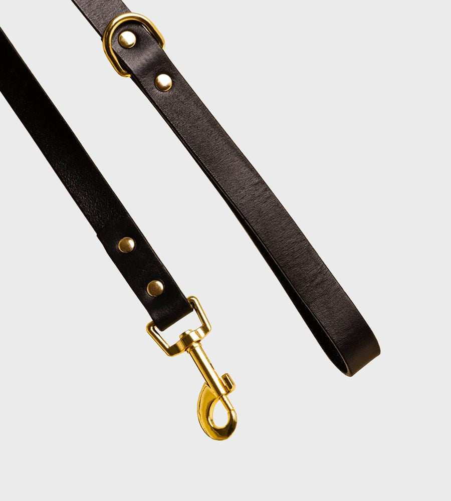 Ollie & James | Leather Dog Lead | Sable